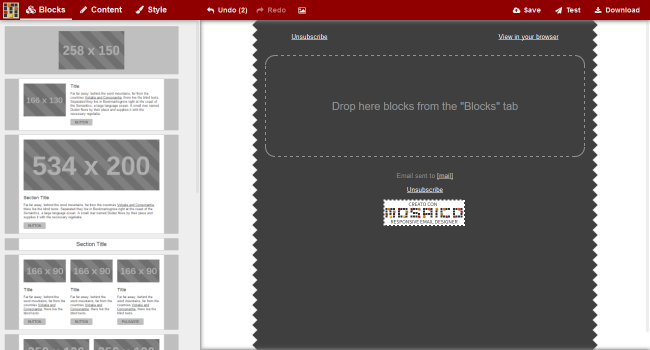 free email template builder responsive mail editor and designer. Black Bedroom Furniture Sets. Home Design Ideas